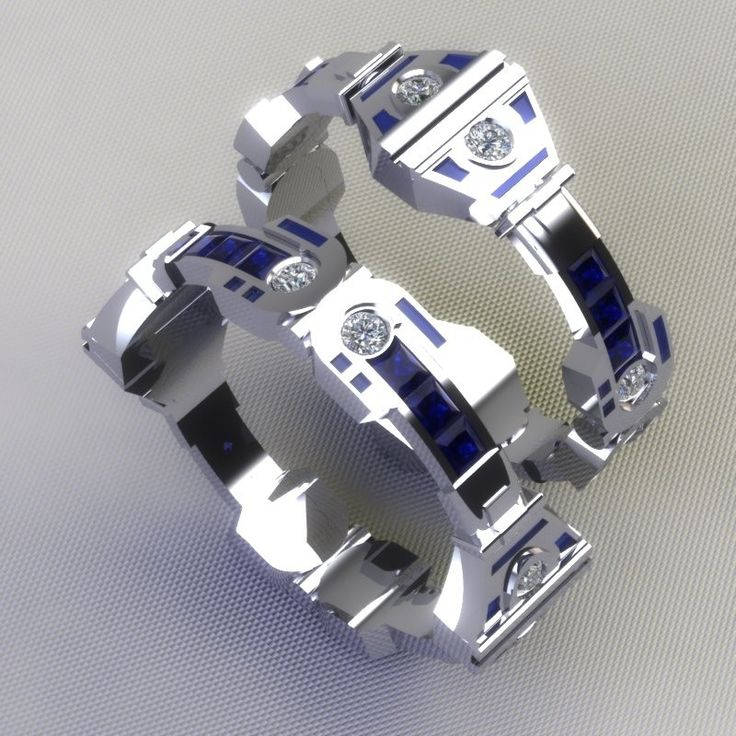 R2d2 Wedding Bands. I'm set on talking my Husband into replacing our current bands with these!!