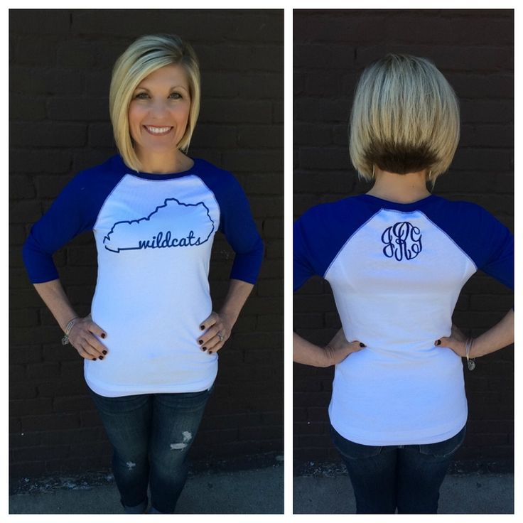 Vinyl Monogram State Wildcats Raglan Tee (More Colors Available)