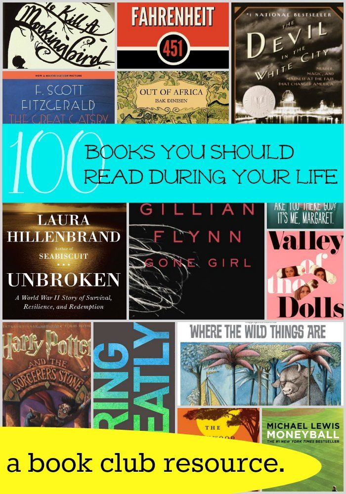 100 Books You Should Read During Your Life | RedefinedMom.com