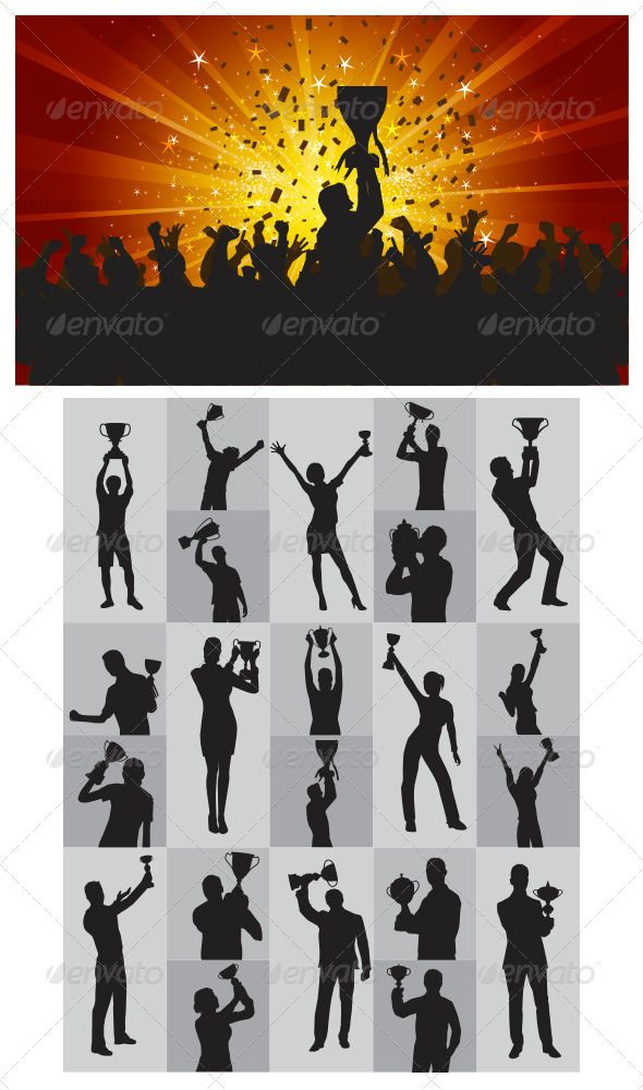 The Winner Silhouettes #GraphicRiver This is nice and high detail vector.this about people pose hold trophy. In this files include AI and EPS versions. You can open it with Adobe Illustrator CS and other vector supporting applications. I hope you like my design, thanks visit my silhouettes collection graphicriver /collections/3119286-silhouettes Created: 1March13 GraphicsFilesIncluded: TransparentPNG #VectorEPS #AIIllustrator Layered: No MinimumAdobeCSVersion: CS Tags: achievement…