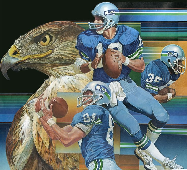Original Seattle Seahawks' uniforms
