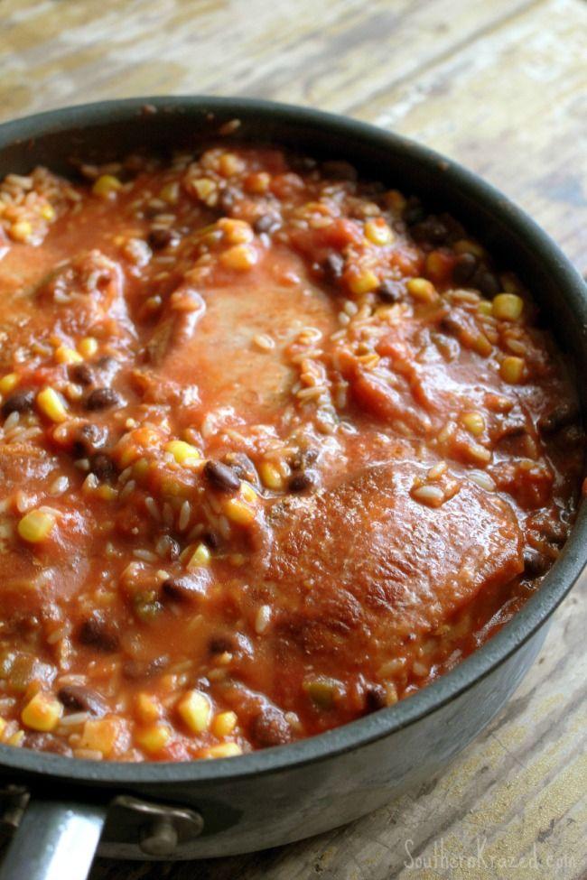 One Pan Mexican Pork Chops