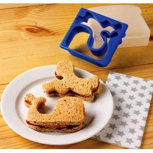 Whale and Octopus Sandwich Cutter http://littlebentoworld.com/shop/sandwich-cutters/whale-and-octopus-sandwich-cutter/