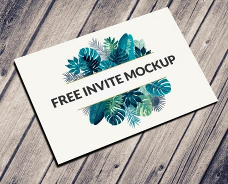 postcard invitation mockup psd