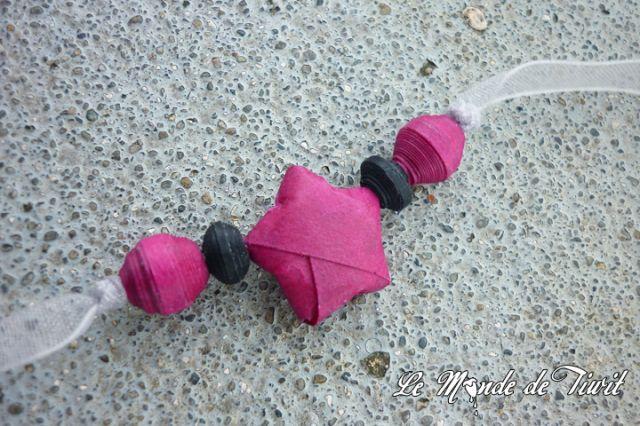 bracelet de perles en papier: En Papier, Perles In, Diy Bracelet