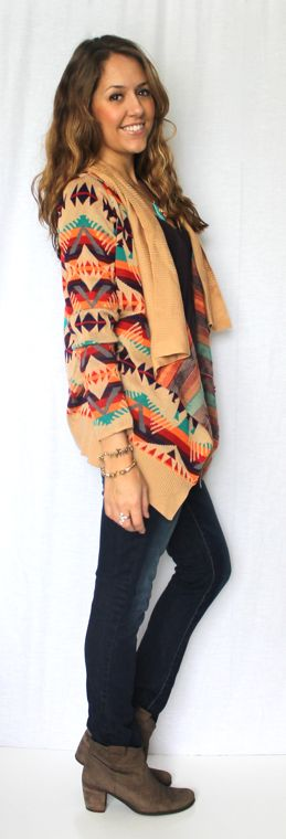 J's Everyday Fashion: Today's Everyday Fashion: The Aztec Cardi