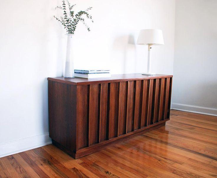 Mid Century Credenza, MCM, Mid Century Modern, Refinished Furniture, Etsy,  Atlanta