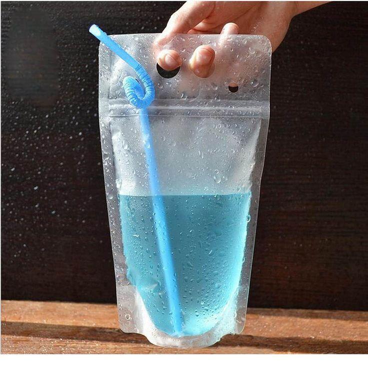 500pcs 450ml Transparent Self-sealed Plastic Beverage Bag DIY Drink  Container Drinking Bag Fruit Juice Food Storage Bag ZA0895