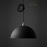 NL Reserve Canopy Lamp Shade in Matte Black from Nook