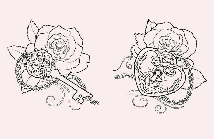 lock+and+key+tattoo | More Tattoo Images Under: Key Tattoos