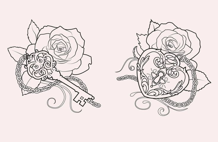 Lineart: lock and key by XxMortanixX.deviantart.com on @deviantART but with a dahlia or peony instead of a rose.