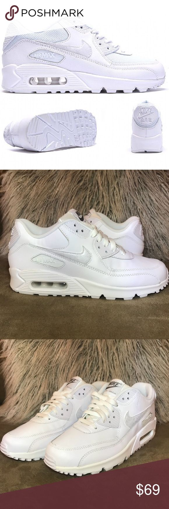 Brand New - Nike Air Max 90 - White Cool Grey 7Y Nike Air Max 90 - White Cool Grey 724821-100 Boys 7Y - Brand New - No Box Nike Shoes Athletic Shoes