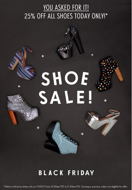Black Friday Shoe Sale - Sale Product Email Blast Inspiration