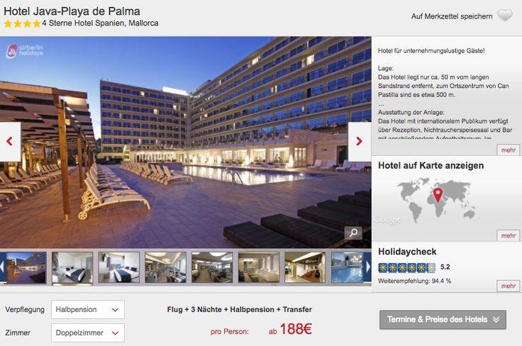 Kurztrip Mallorca: 4 Tage im 4* Hotel inkl. Flügen und Halbpension schon für 188€