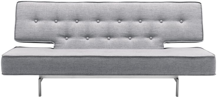 Seca modern sofabed in nubby fabric