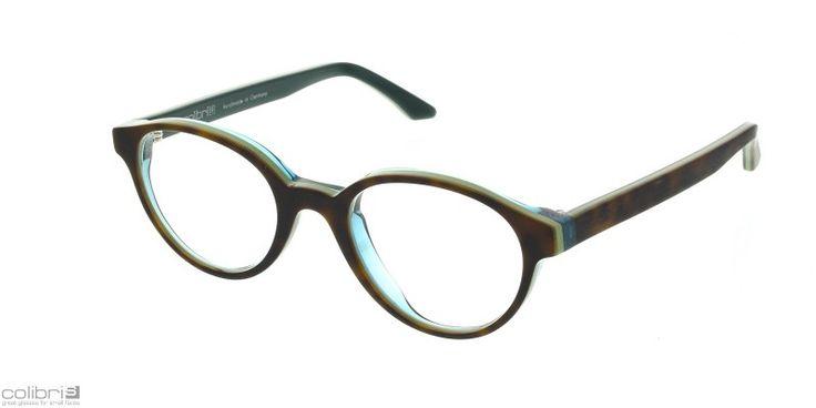Brillen von Colibris für schmale Gesichter gibt es in großer Material (Acetat,Edelstahl) Form und Farb Auswahl bei der Augenweide in Köln. colibris - small is smarter: Modell Josy zweifarbig