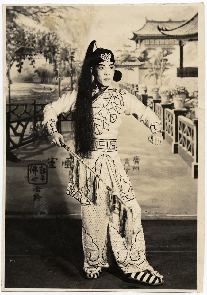 Ma Shi Tsang Holding A Riding Crop Possibly Staged At The Great Star Theatre Digital Archive Of Chinese Theater In Californiabetween 1920 And Issued