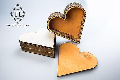 scatola di legno a forma di cuore  | Casa, arredamento e bricolage, Decorazione della casa, Scatole, vasi e barattoli | eBay!