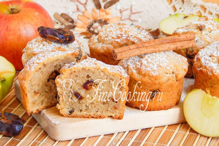 Постные яблочные кексы - рецепт с фото