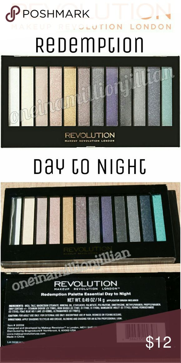 🎁 Makeup Revolution Essential Day/Night Palette New - Never Used  Full Sz & Authentic  Color: Redemption Day to Night  Makeup Revolution's Essential Day to Night Redemption Eye Shadow Palette is a perfect mix of shades. This balanced mix of luminous earth tones & wearable bolds is the quickest way to take your look from zero to sixty.  Don't forget to check out the rest of my page for more great items & discounts. #oneinamillionjillian Makeup Revolution Makeup Eyeshadow