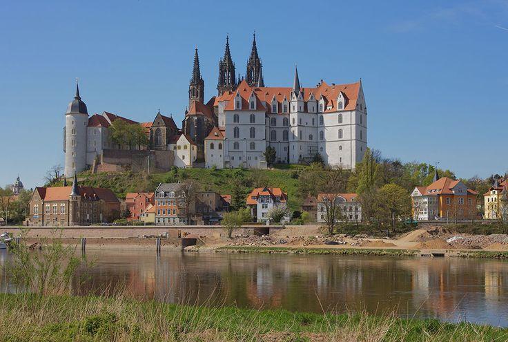 Burgberg mit Albrechtsburg (rechts) von Osten