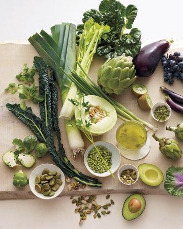 The Greens Good Sources: watercress, leeks, arugula, parsley, celery, green tea, kale, brussels sprouts, broccoli,