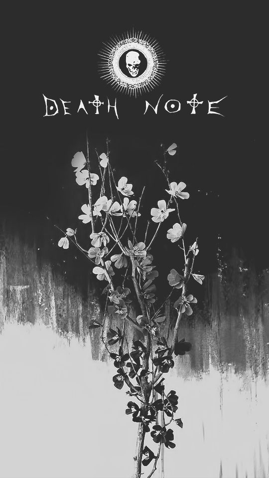 """""""Flowery Death Note 540x960px wallpapers // requested by anon Free to use / Do not claim as your own """""""