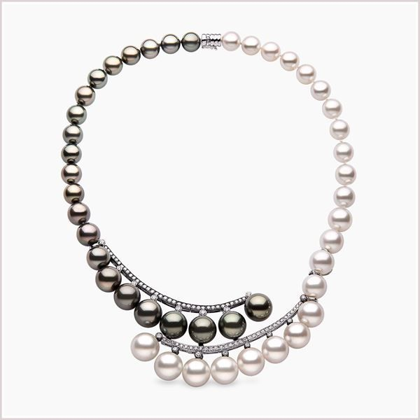 bc77331db8098 Yoko London 18ct white gold necklace with South Sea pearls, Tahitian ...