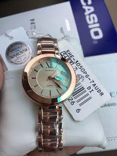 นาฬิกาข้อมือ CASIO SHEEN MULTI-HAND รุ่น SHE-3050PG-7A นาฬิกาข้อมือสำหรับผู้ห...
