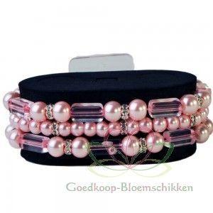 #Corsage #Polscorsage-armband Geo Flash Roze - Goedkoop-bloemschikken.nl
