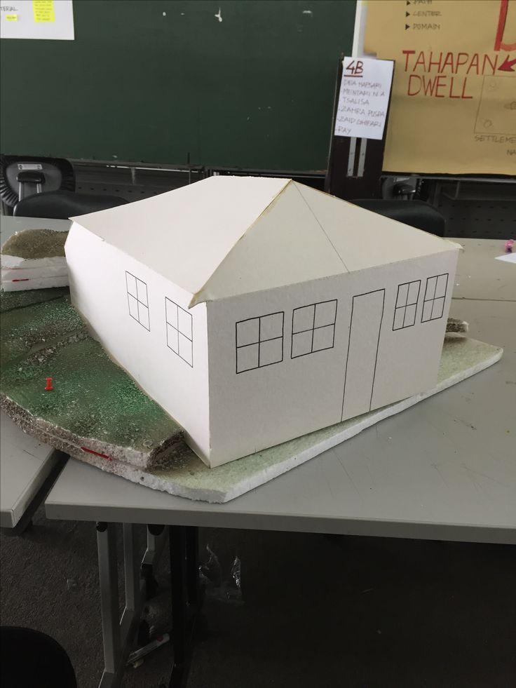 Workpart - Maria Lestari - Kelas 2 - Kelompok 4A - menskalakan ukuran, mengcutter, membuat jendela+pintu, membuat maket site