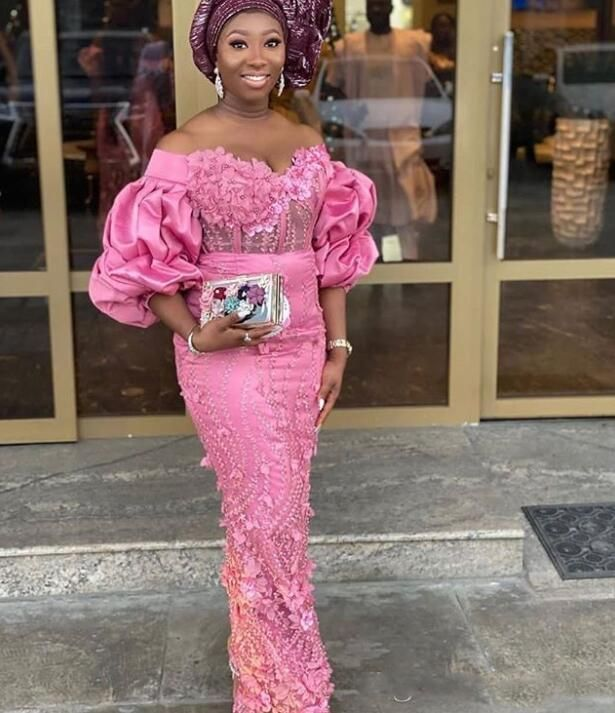 nigerian styles with lace dresses,latest lace gowns 2020,