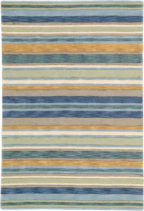 Rugstudio Presents Company C Sheffield Stripe 18237 Sea