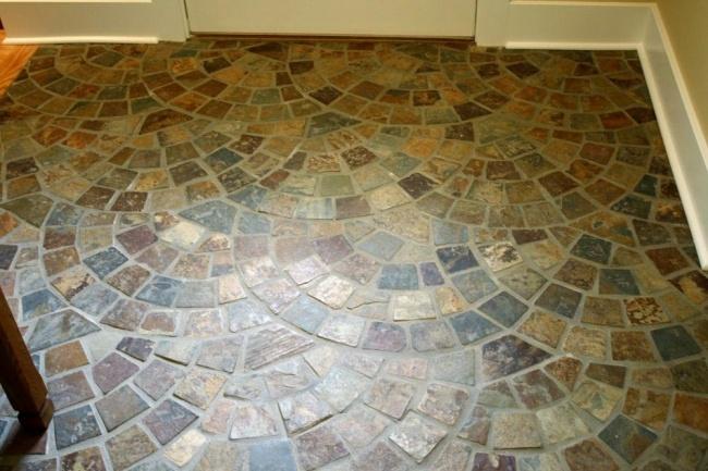 Cobble Stone Mosaics : Best floor tile images on pinterest