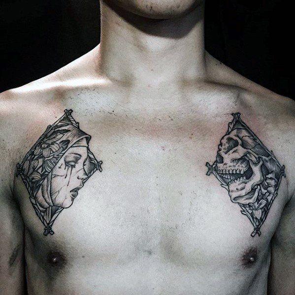 Top 43 Small Chest Tattoos Ideas 2021 Inspiration Guide Chest Tattoos For Women Tattoos For Guys Small Chest Tattoos