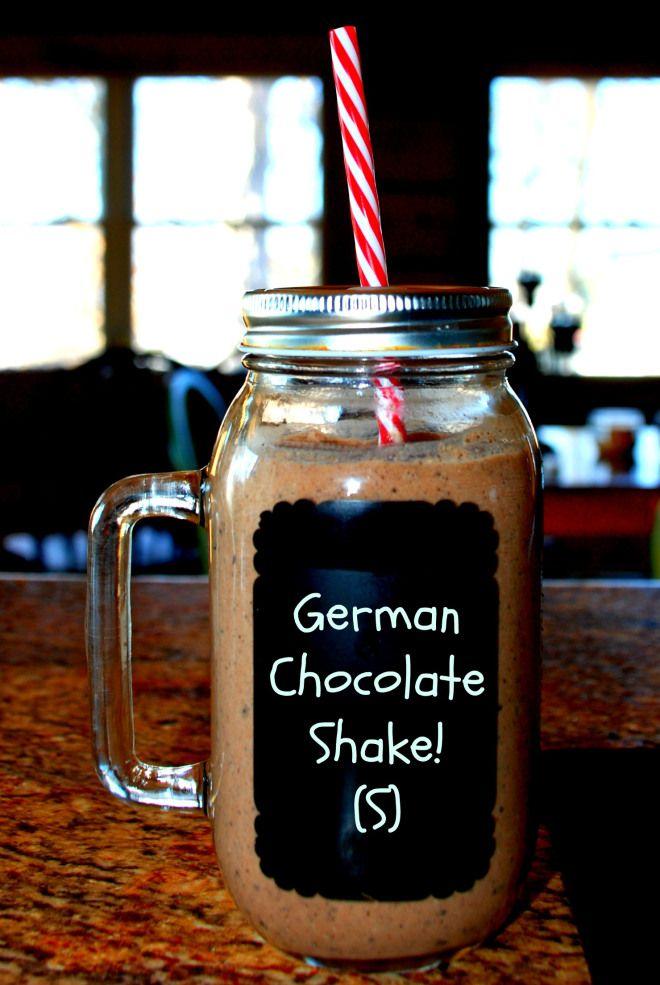 German Chocolate Shake! (S) Sugar-free- Trim Healthy Mama. Enjoy!