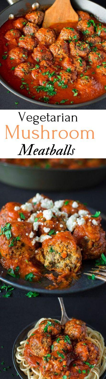 VEGETARIAN MUSHROOM MEATBALLS #vegetarian #healthyrecipe