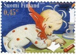 Martta Wendelin, Christmas stamp, Finland, 2004 - Joulupostimerkki 2004 - Kirje Joulupukille