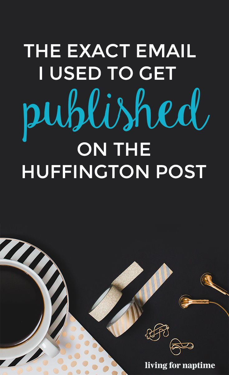 If you are looking to get published on the Huffington Post, here is a great example of an email pitch that actually got a response within 24 hours & got the blogger published!