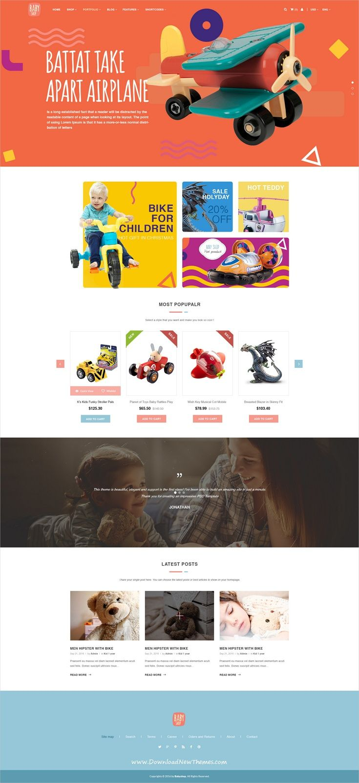 Babyshop is an extraordinary #PSD template that is crafted for #baby #stores & other related niche site in the industry eCommerce websites download now➩ https://themeforest.net/item/babyshop-beautiful-psd-template-for-baby-stores/19237645?ref=Datasata