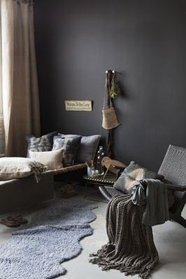 Urban Chic bedroom with deep rich colors. Great for a guest room or fora girl or guy who could use a twin size bed.