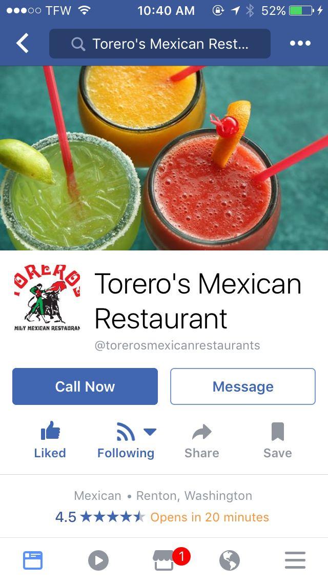 *Torero's Mexican Restaurant at the landing in Renton.