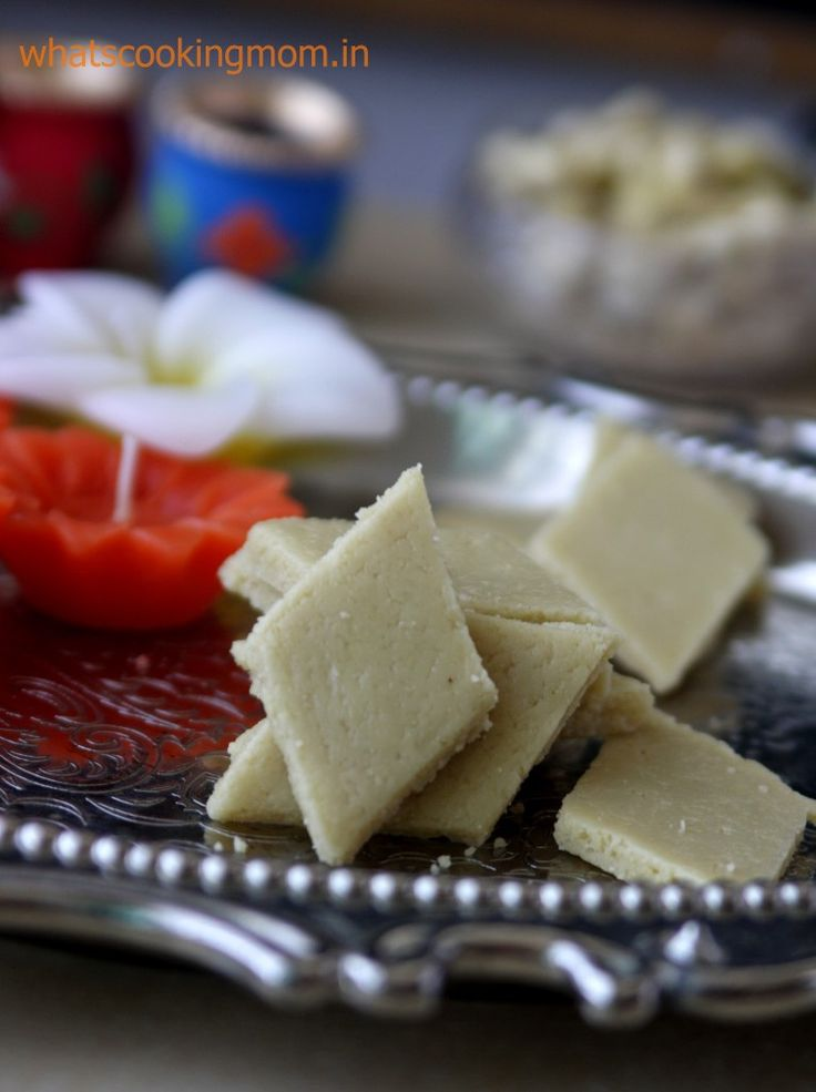 A sweet dish that cannot be missed during Diwali is Kaju katli! Made with cashews, this is one melt in the mouth dessert! #Diwali