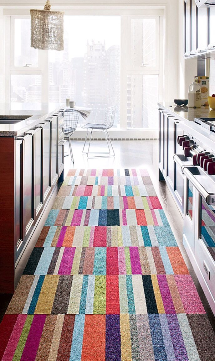 Carpet tiles // creates a custom-sized carpet for any floor area and shape. Genius! #product_design
