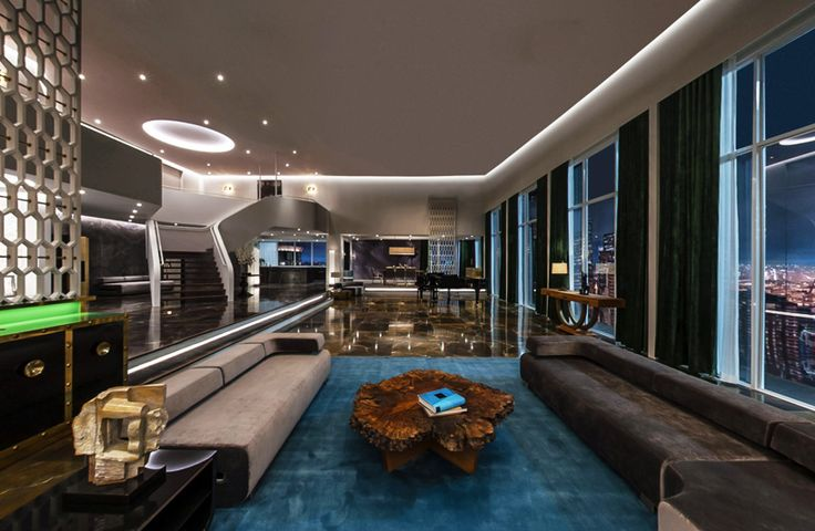 a look at the set design of christian grey's penthouse apartment
