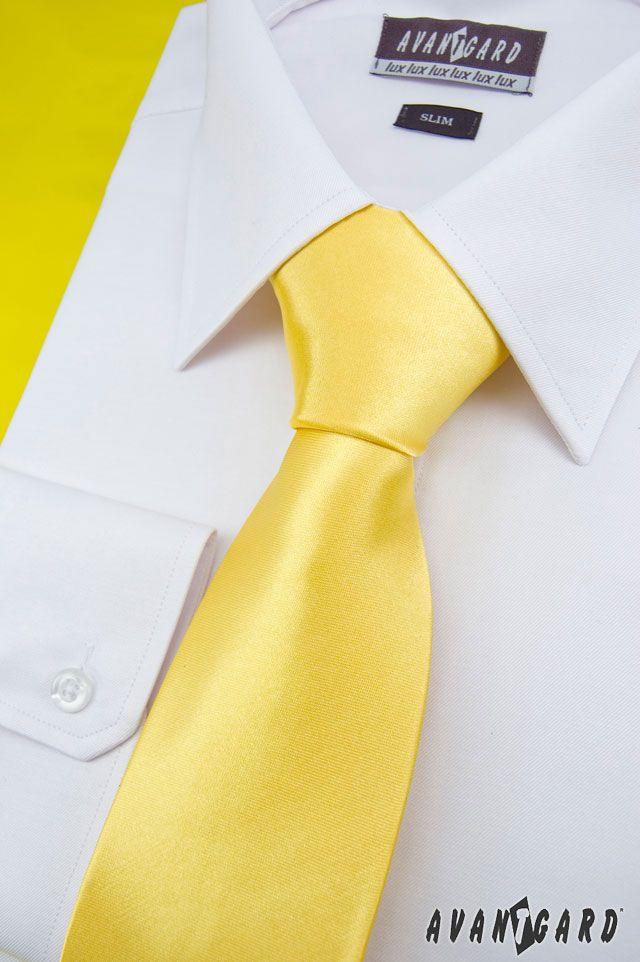 Žlutá inspirace nejen na svatbu / Yellow (wedding) inspiration  Žlutá pánská kravata / Yellow men's tie