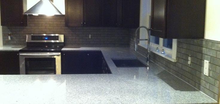 """Porcelain """"Slate"""" Subway Tile Backsplash By Stepping Stone and Tile #SST"""