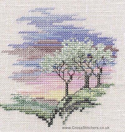 Морозные Деревья - менуэта - Вышивка крестом Набор из Derwentwater Designs