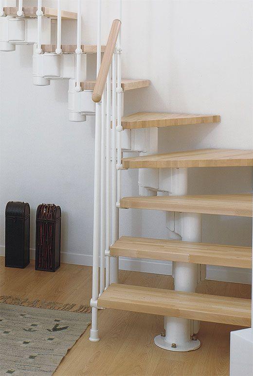 1000 idee n over trap leuning op pinterest trappen zolderkamer en zolder ombouwen - Moderne trap kwartslag ...