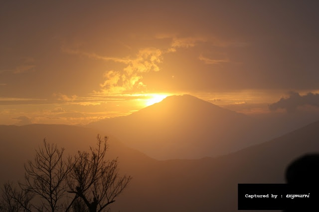 The golden sunrise from Dieng, Central Java, Indonesia